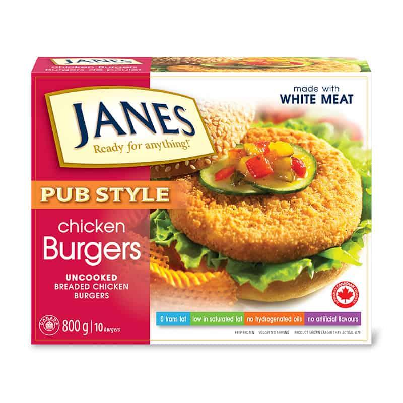 Pub Style Chicken Burgers