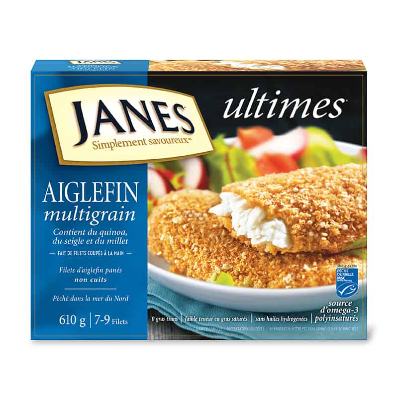 Filets d&rsquo;aiglefin panés multigrains<span> ultimes </span>