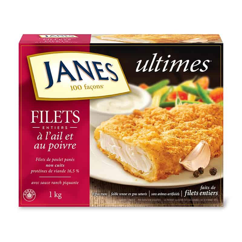 Filets de pouletpanés<span>ultimes</span>ail et poivre