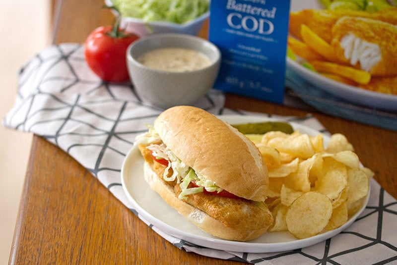 Fear of Frying: Crispy Cod Po' Boy with Janes ultimates Tavern Battered Cod