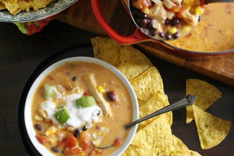 Simple Chicken Enchilada Soup