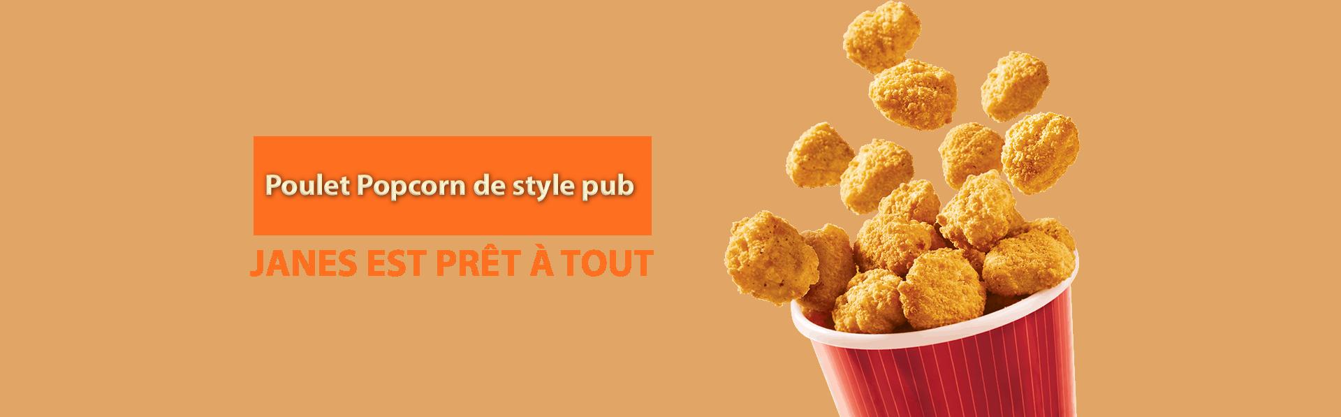 Poulet Popcorn de style pub