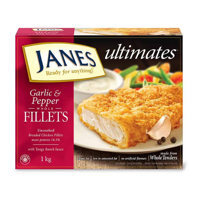 <span>ultimates</span> Breaded Garlic and Pepper Chicken Fillets