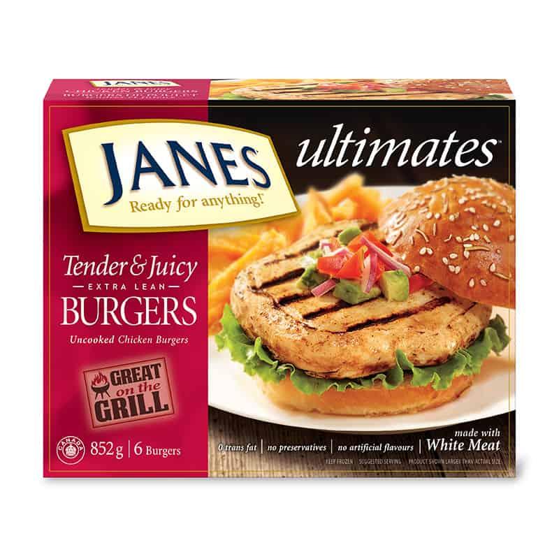 <span>ultimates</span> Tender and Juicy Burgers