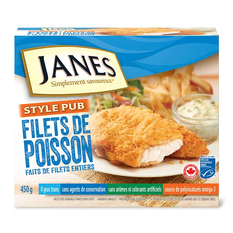 Filets de poisson de style pub