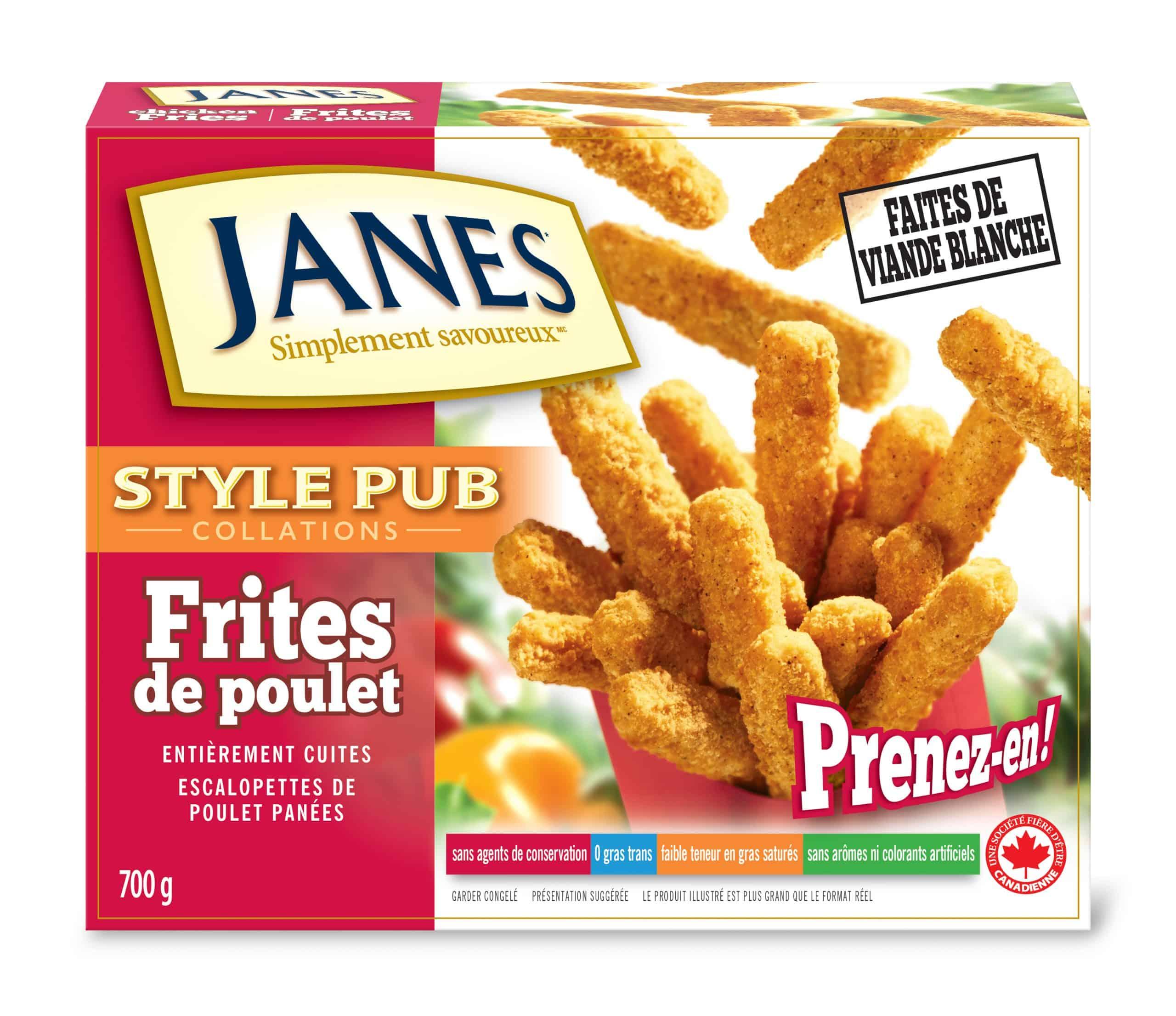 Frites de poulet de style pub