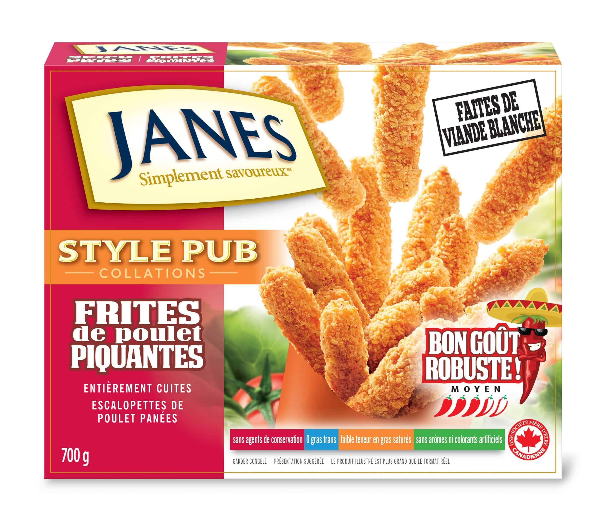 Frites épicées de poulet de style pub
