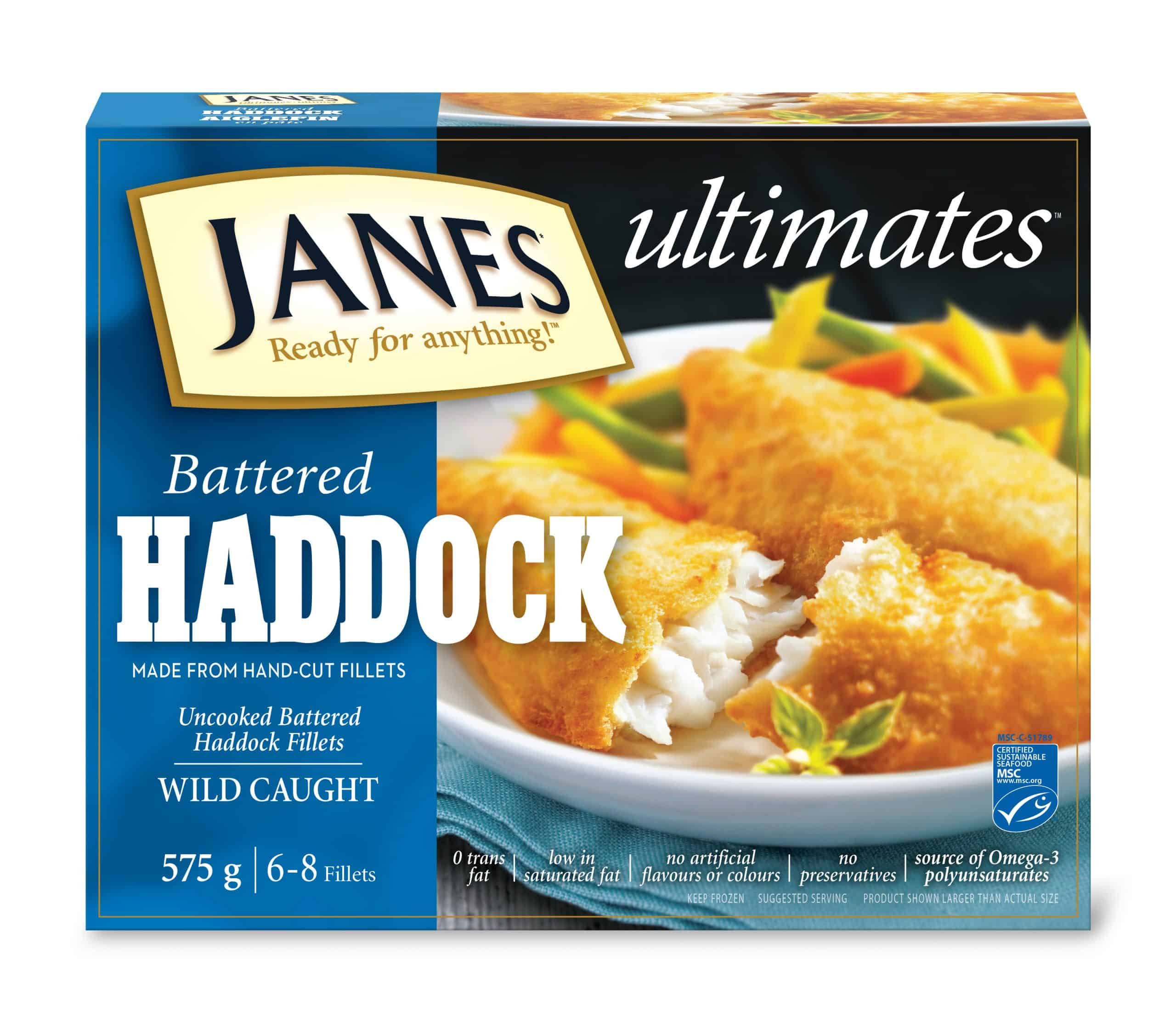 <span>ultimates</span> Battered Haddock Fillets