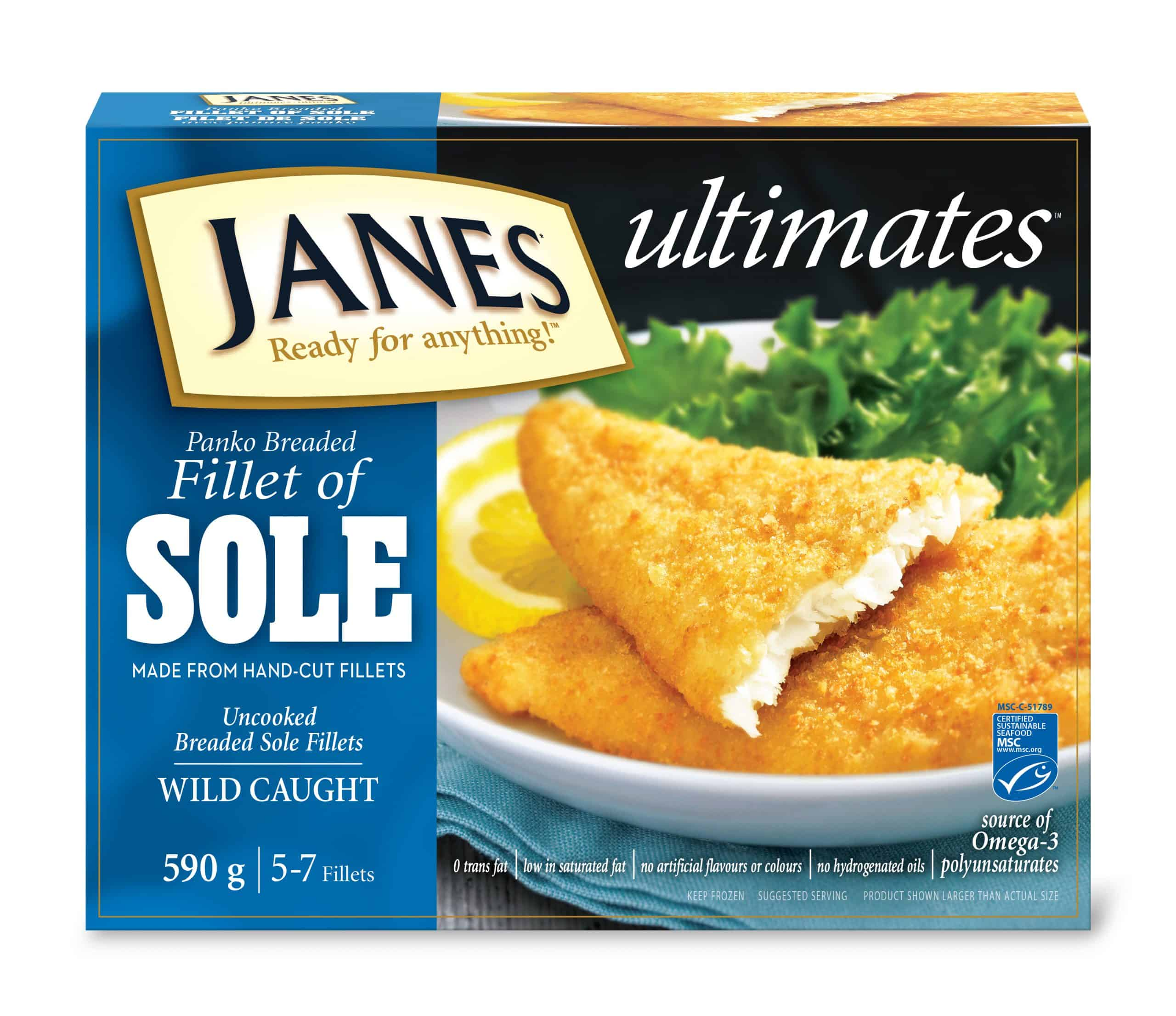 <span>ultimates</span> Breaded Fillet of Sole