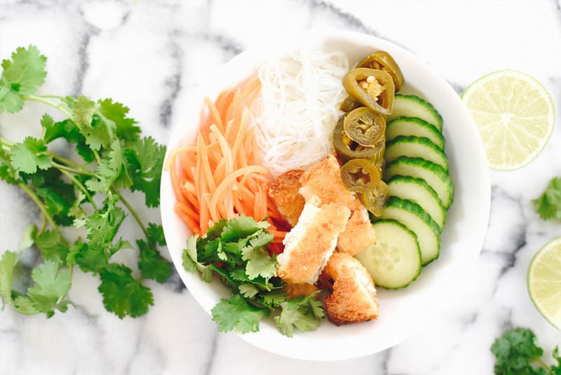 Bakes Fish Banh Mi Bowl Recipe + Video