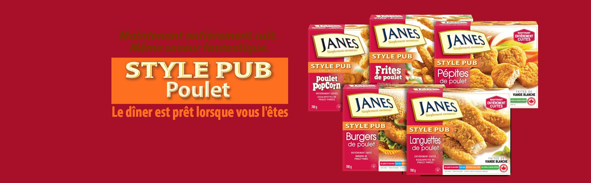 style pub Poulet