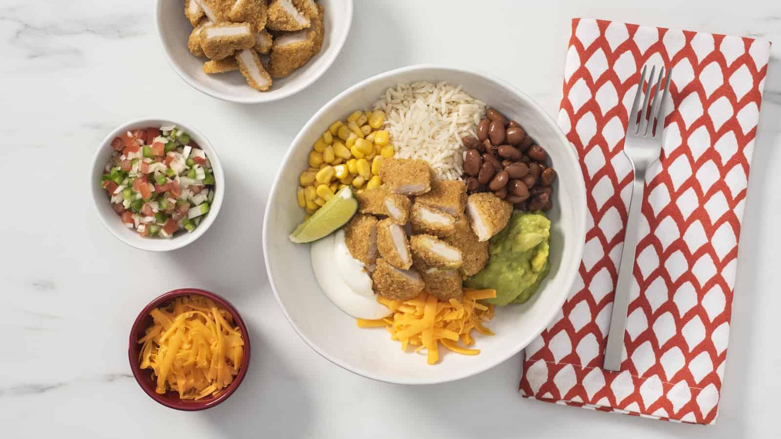 Chicken Strips Burrito Bowl