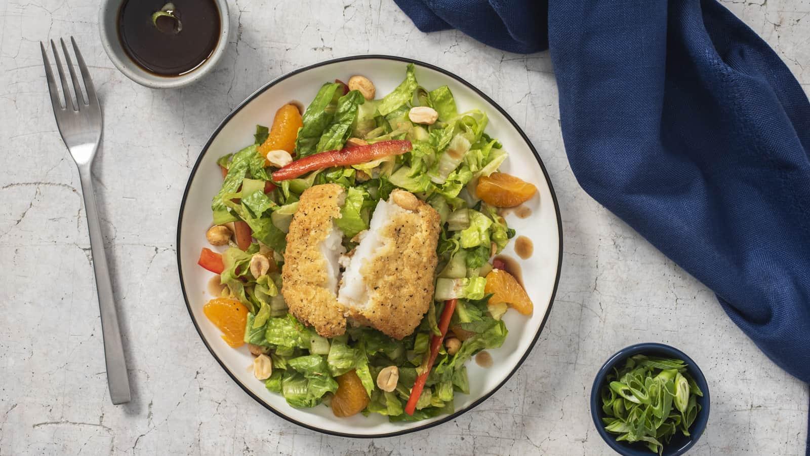 Crunchy Thai Fish Salad