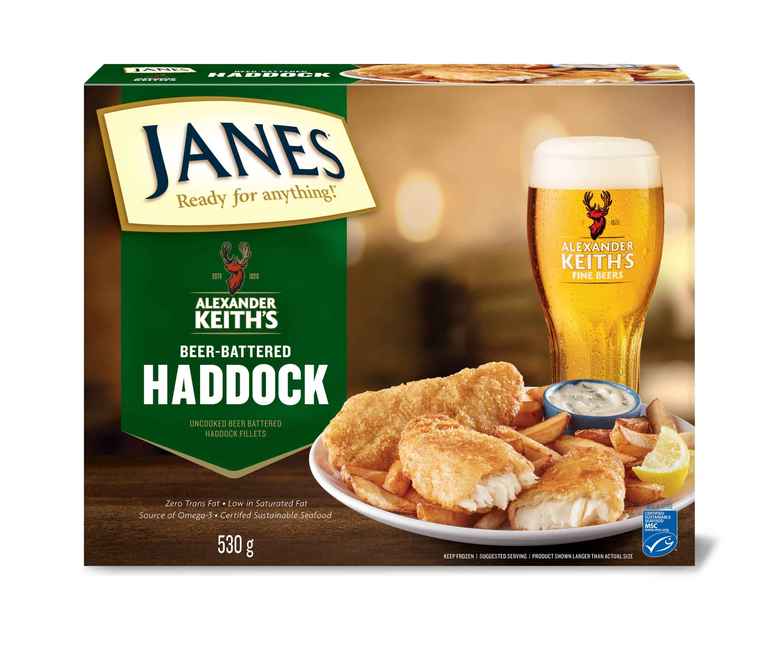 Alexander Keith's Beer-Battered Haddock Fillets